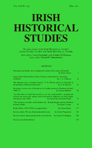 Irish Historical Studies Volume 41 - Issue 159 -