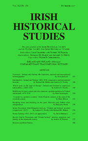 Irish Historical Studies Volume 41 - Issue 160 -  Ireland and Finland, 1860–1930: Comparative and Transnational Histories
