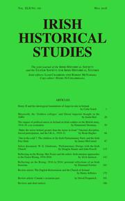 Irish Historical Studies Volume 42 - Issue 161 -