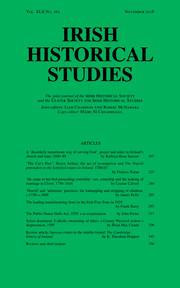 Irish Historical Studies Volume 42 - Issue 162 -