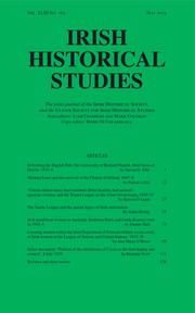 Irish Historical Studies Volume 43 - Issue 163 -