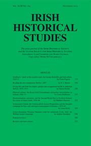 Irish Historical Studies Volume 43 - Issue 164 -