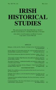 Irish Historical Studies Volume 45 - Issue 167 -