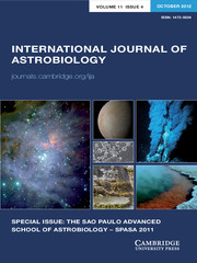 International Journal of Astrobiology Volume 11 - Issue 4 -  SPECIAL ISSUE: THE SAO PAULO ADVANCED SCHOOL OF ASTROBIOLOGY – SPASA 2011