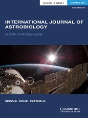 International Journal of Astrobiology Volume 14 - Issue 1 -  SPECIAL ISSUE: EXPOSE-R