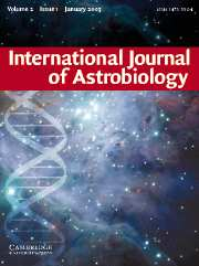 International Journal of Astrobiology Volume 2 - Issue 1 -
