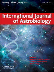 International Journal of Astrobiology Volume 7 - Issue 1 -