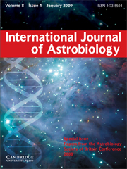 International Journal of Astrobiology Volume 8 - Issue 1 -  Papers from the Astrobiology Society of Britain Conference 2008
