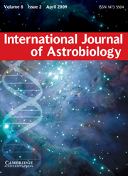 International Journal of Astrobiology Volume 8 - Issue 2 -