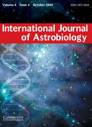International Journal of Astrobiology Volume 8 - Issue 4 -