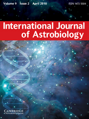 International Journal of Astrobiology Volume 9 - Issue 2 -
