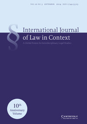 International  Journal of Law in Context Volume 10 - Issue 3 -