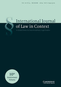 International  Journal of Law in Context Volume 10 - Issue 4 -