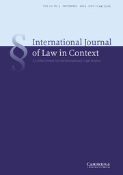 International  Journal of Law in Context Volume 11 - Issue 3 -