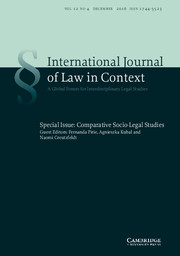 International  Journal of Law in Context Volume 12 - Special Issue4 -  Comparative Socio-Legal Studies