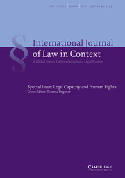 International  Journal of Law in Context Volume 13 - Special Issue1 -  Legal Capacity and Human Rights