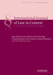 International  Journal of Law in Context Volume 15 - Special Issue2 -  Law, Liberty and                                           Technology: Criminal Justice in the Context of Smart                                           Machines