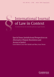 International  Journal of Law in Context Volume 16 - Special Issue2 -  Jurisdictional Perspectives on Alternative Dispute Resolution and Access to Justice