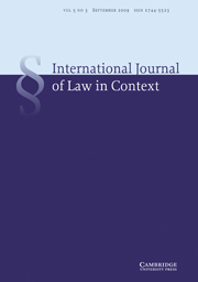 International  Journal of Law in Context Volume 5 - Issue 3 -
