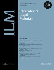 International Legal Materials
