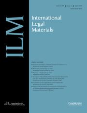 International Legal Materials Volume 58 - Issue 2 -