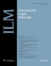 International Legal Materials Volume 60 - Issue 2 -