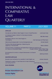 International & Comparative Law Quarterly