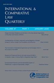 International & Comparative Law Quarterly Volume 57 - Issue 1 -