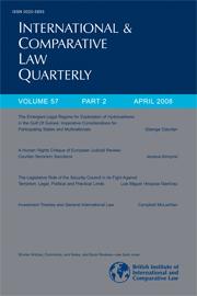 International & Comparative Law Quarterly Volume 57 - Issue 2 -