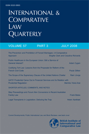 International & Comparative Law Quarterly Volume 57 - Issue 3 -