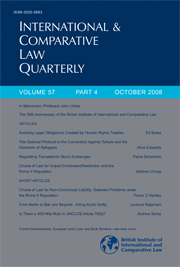 International & Comparative Law Quarterly Volume 57 - Issue 4 -