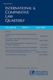 International & Comparative Law Quarterly Volume 58 - Issue 3 -