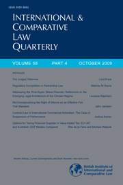 International & Comparative Law Quarterly Volume 58 - Issue 4 -