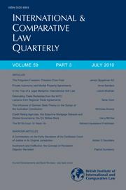 International & Comparative Law Quarterly Volume 59 - Issue 3 -