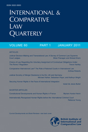 International & Comparative Law Quarterly Volume 60 - Issue 1 -