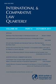 International & Comparative Law Quarterly Volume 60 - Issue 4 -