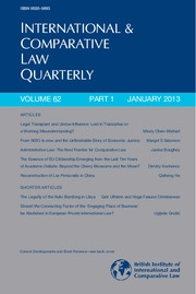 International & Comparative Law Quarterly Volume 62 - Issue 1 -