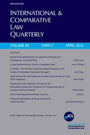 International & Comparative Law Quarterly Volume 63 - Issue 2 -
