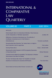 International & Comparative Law Quarterly Volume 63 - Issue 3 -