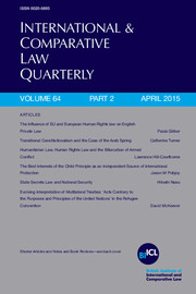 International & Comparative Law Quarterly Volume 64 - Issue 2 -