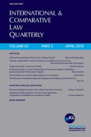 International & Comparative Law Quarterly Volume 65 - Issue 2 -