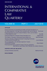 International & Comparative Law Quarterly Volume 65 - Issue 3 -