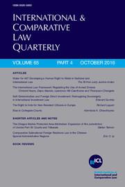 International & Comparative Law Quarterly Volume 65 - Issue 4 -
