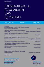 International & Comparative Law Quarterly Volume 67 - Issue 3 -