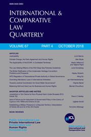 International & Comparative Law Quarterly Volume 67 - Issue 4 -