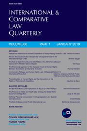 International & Comparative Law Quarterly Volume 68 - Issue 1 -