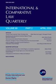 International & Comparative Law Quarterly Volume 69 - Issue 2 -
