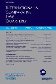 International & Comparative Law Quarterly Volume 69 - Issue 4 -