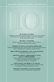 International Organization Volume 63 - Issue 2 -