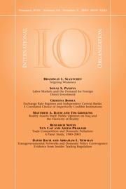 International Organization Volume 64 - Issue 3 -